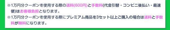 1万円クーポン使用の注意事項