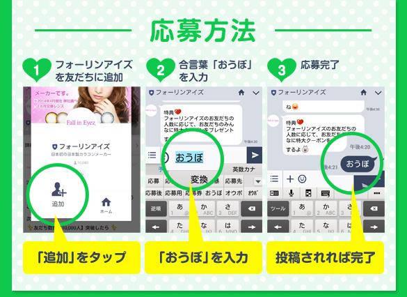 LINE@友だちキャンペーン応募方法